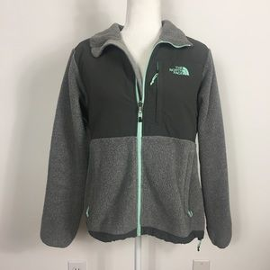 The North Face Grey Denali Zip Up Fleece Jacket